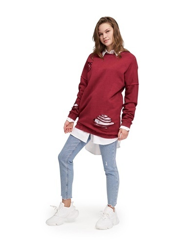 Mizalle Youth Sweatshirt Bordo